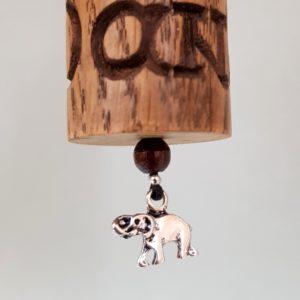 """Gebetsmühle Mini """"Ois is Oans & Yin Yang mit Elefantensilberanhänger"""" #31"""